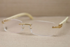 Cartier Rimless 3524012 White Genuine Natural Original Eyeglasses in Gold