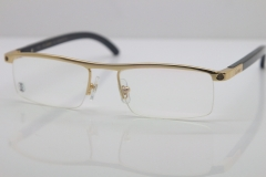 Cartier Optical 4581369 Black Buffalo Horn Eyeglasses