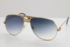 Cartier Diamond 1130036 Original Sunglasses In Gold Gray Len